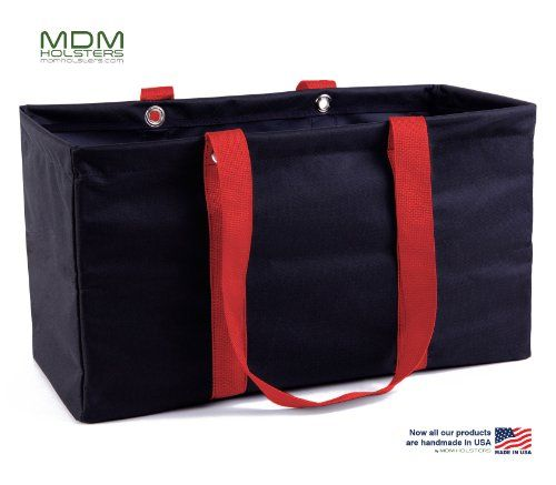 Best Makeup Bag   MDM Large Utility Tote Bag Organizer Laundry Bag Black  Red ** Click image for more details. Note:It is Affiliate Link to Amazon.