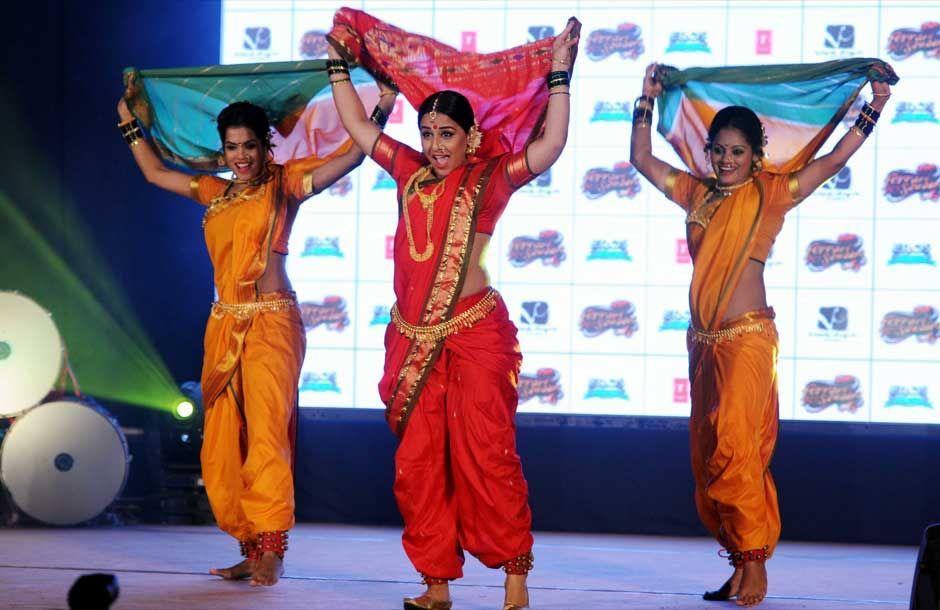 Vidya Balan performing Lavani