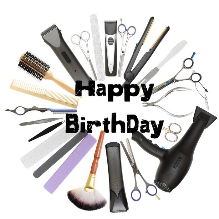 Картинка с днем рождения парикмахера