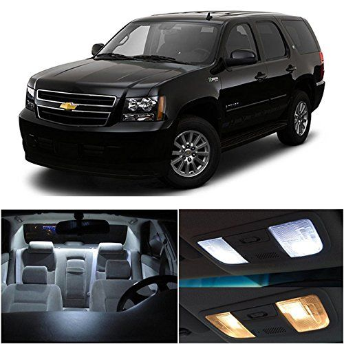 Amazon Com Ledpartsnow Chevy Avalanche 2007 2014 Xenon White Premium Led Interior Lights Package Kit 6 Pieces Automotive Chevy Tahoe Chevy Tahoe