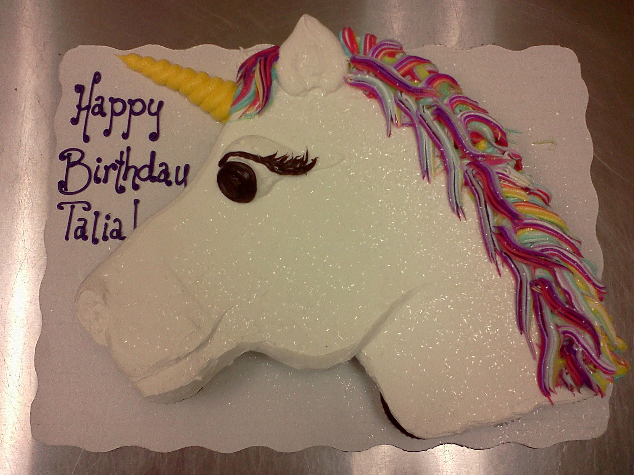 Unicorn cupcake cake 24 cupcakes buttercream Cakes Pinterest