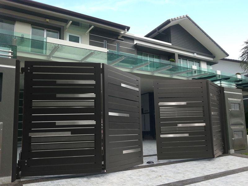 Premium Collections Images Of Trackless Folding Gates Elite Gates House Gate Design House Main Gates Design Front Gate Design