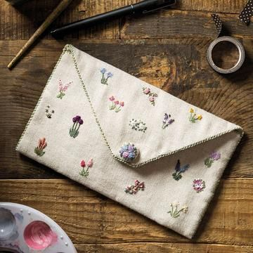 Victorian Roses and Wisteria Heart  Scissorkeep Kit – bahar kombinleri