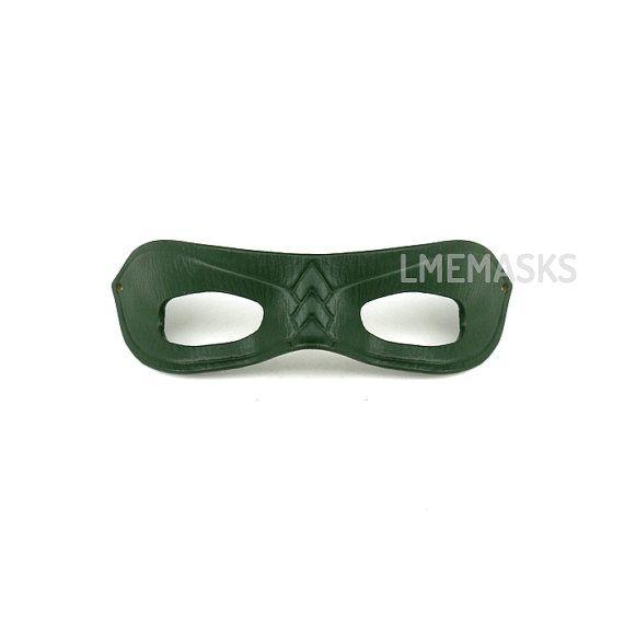 arrow leather mask green cosplay tv series show super hero half mask