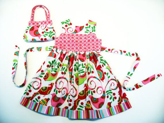 Handmade 4T holiday dress 4T floral dress 4T by LizzyBethLane