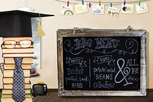 Cade Vintage Framed Kitchen Chalkboard - Decorative Chalk Board for