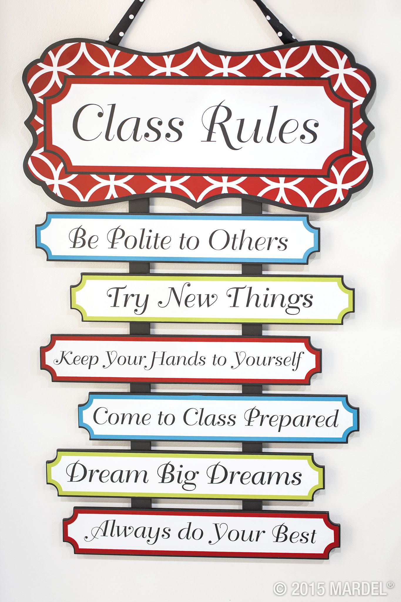 Mardel Classroom Decor ~ This class rules sign is new to the isabella collection