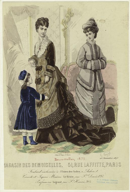 Magasin des demoiselles. 51, rue Laffette, Paris, 25 Novembre 1875. (1875)