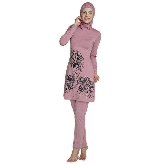 b7d0e19818a New Arab Muslim Swimwear Women Hijab Beach Swimsuit Islamic Modest Coverage  Swimming Bathing Suit Plus Size Muslim Swimsuit