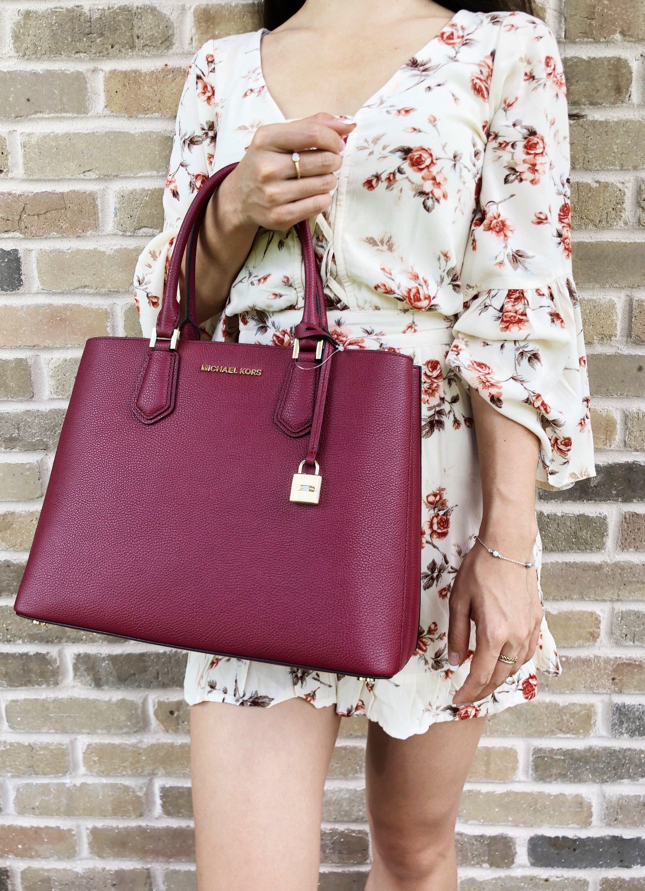 d97ba428fd79 Michael Kors Adele Mercer Large Satchel Mulberry #Handbags #MK #MichaelKors