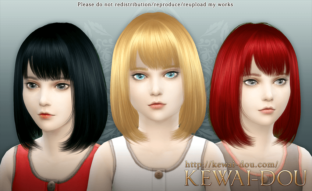 Kewai Dou The Sims 4 Hair Cecile Download Page This Hairstyle Is