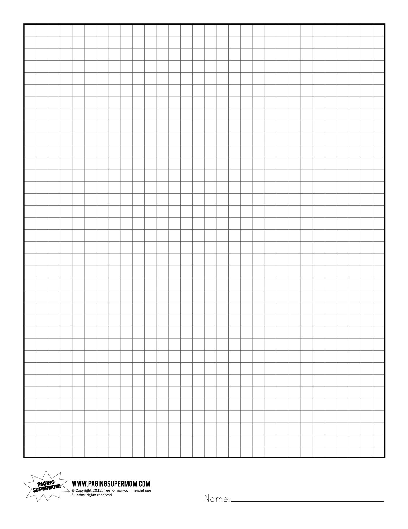 FREE printable graph paper Planners Pinterest – Free Printable Grid Paper for Math