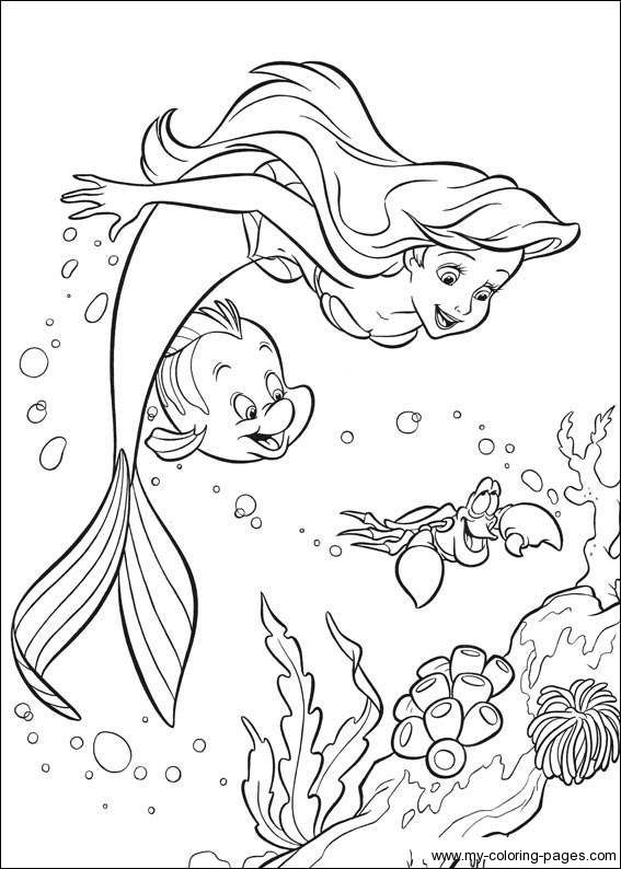 Little-Mermaid-Coloring-Pages-029 | Coloring pages | Pinterest ...