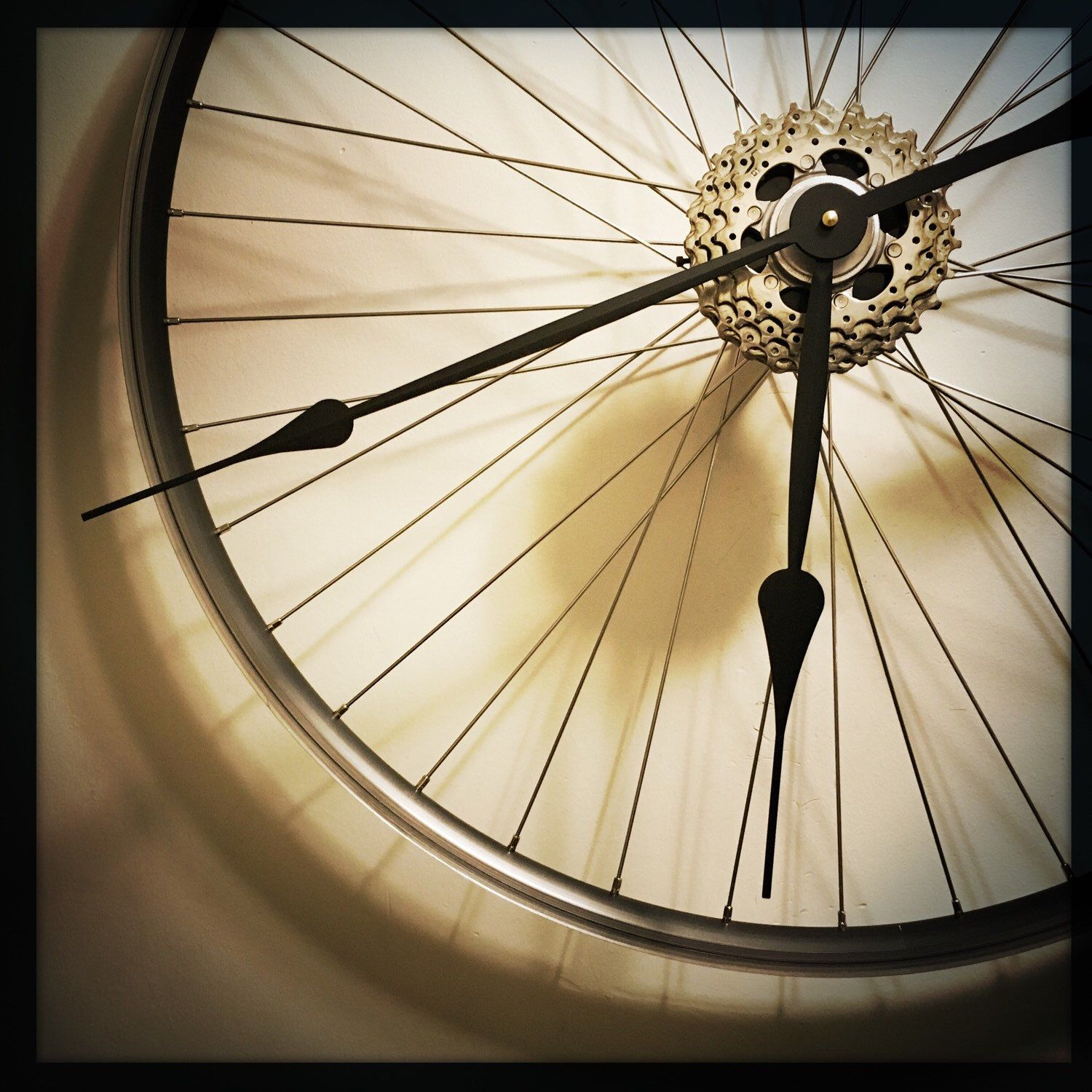 Loving The Lines On This Bike Wheel Clock One Of These Under The