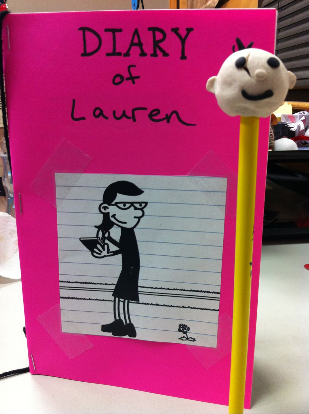 Craft for the upcoming diary of a wimpy kid program play for Diary of a wimpy kid crafts