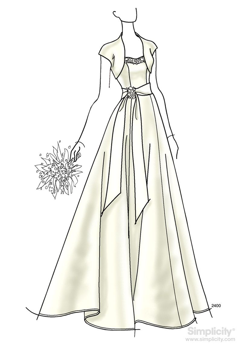 Tea length wedding dress patterns to sew  Bridal and Evening Gown Sewing Pattern  Jessica McClintock for