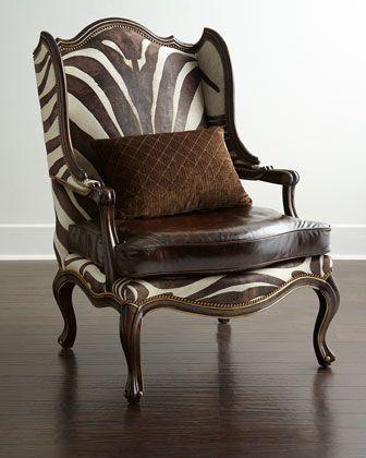 massoud zena hairhide leather wing chair furniture sillones de rh pinterest cl