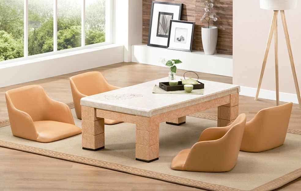 New Floor Chair Seat Zaisu Curved Side Legless Tatami Chair For Low Tables Dining Furniture Sets Floor Seating Furniture Sets Design