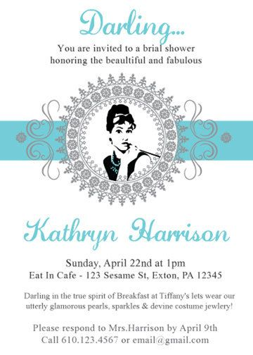 I must say, this breakfast at tiffany's bridal shower was super chic and an awesome good time! Breakfast At Tiffany S Bridal Shower By Invitations4print On Etsy Tiffany Bridal Shower Bridal Shower Brunch Tiffany Wedding Theme
