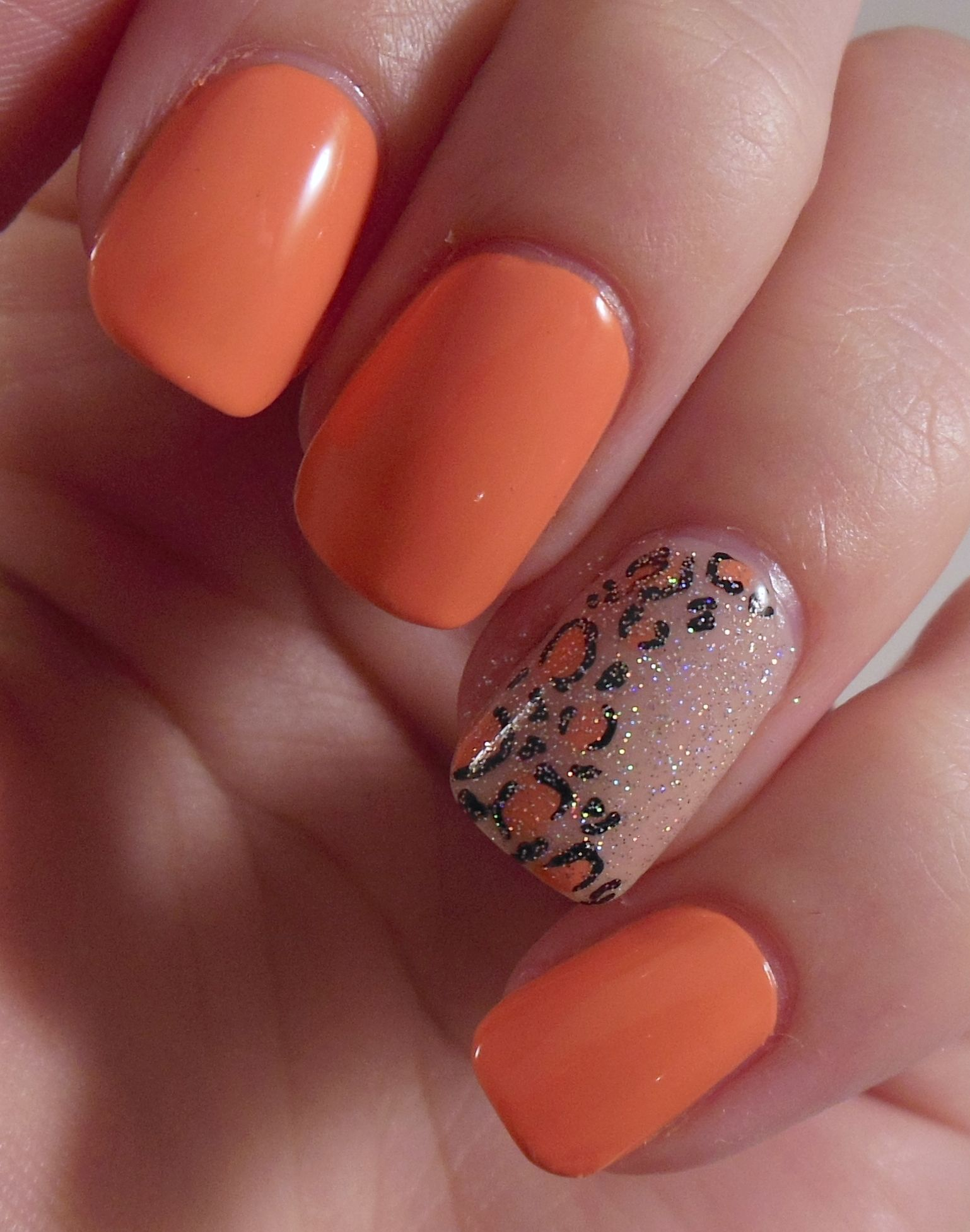 Peach And Black Nail Designs - British Nail Bloggers - Colour Me Crazy - Orange My Nails