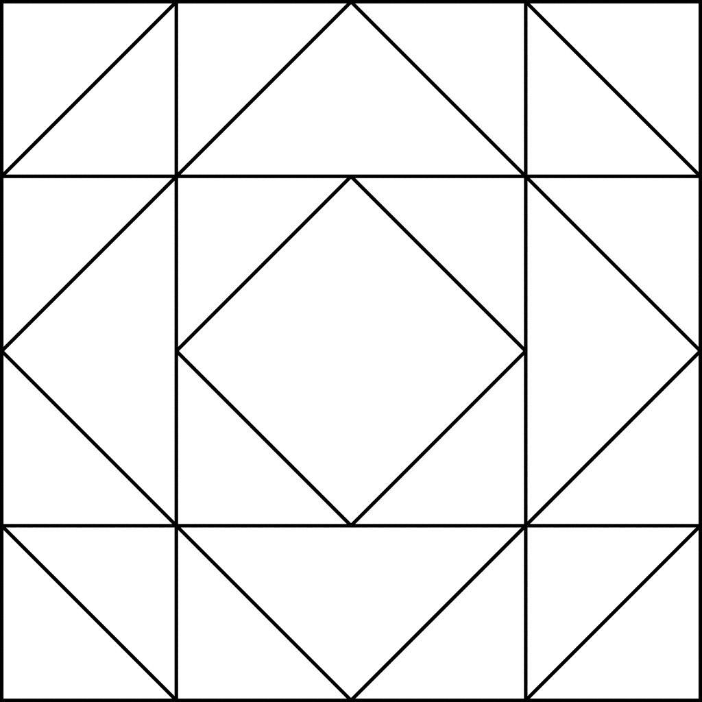 3 Printable Coloring Quilt Squares in 3  Barn quilt patterns