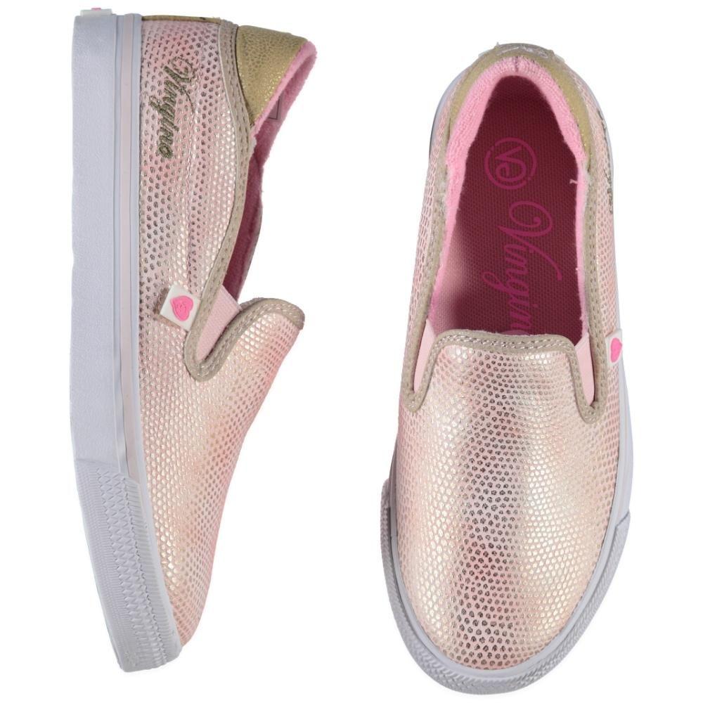 Vingino Slip On Sneakers 30t M37 S15f V31104 04 Beigegold Meisjes Schoenen Sneaker Kinderkleding