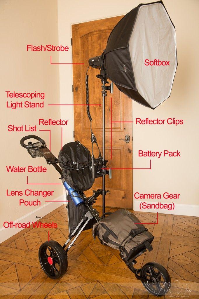 Diy Golf Push Cart Light Stand Photography Tips