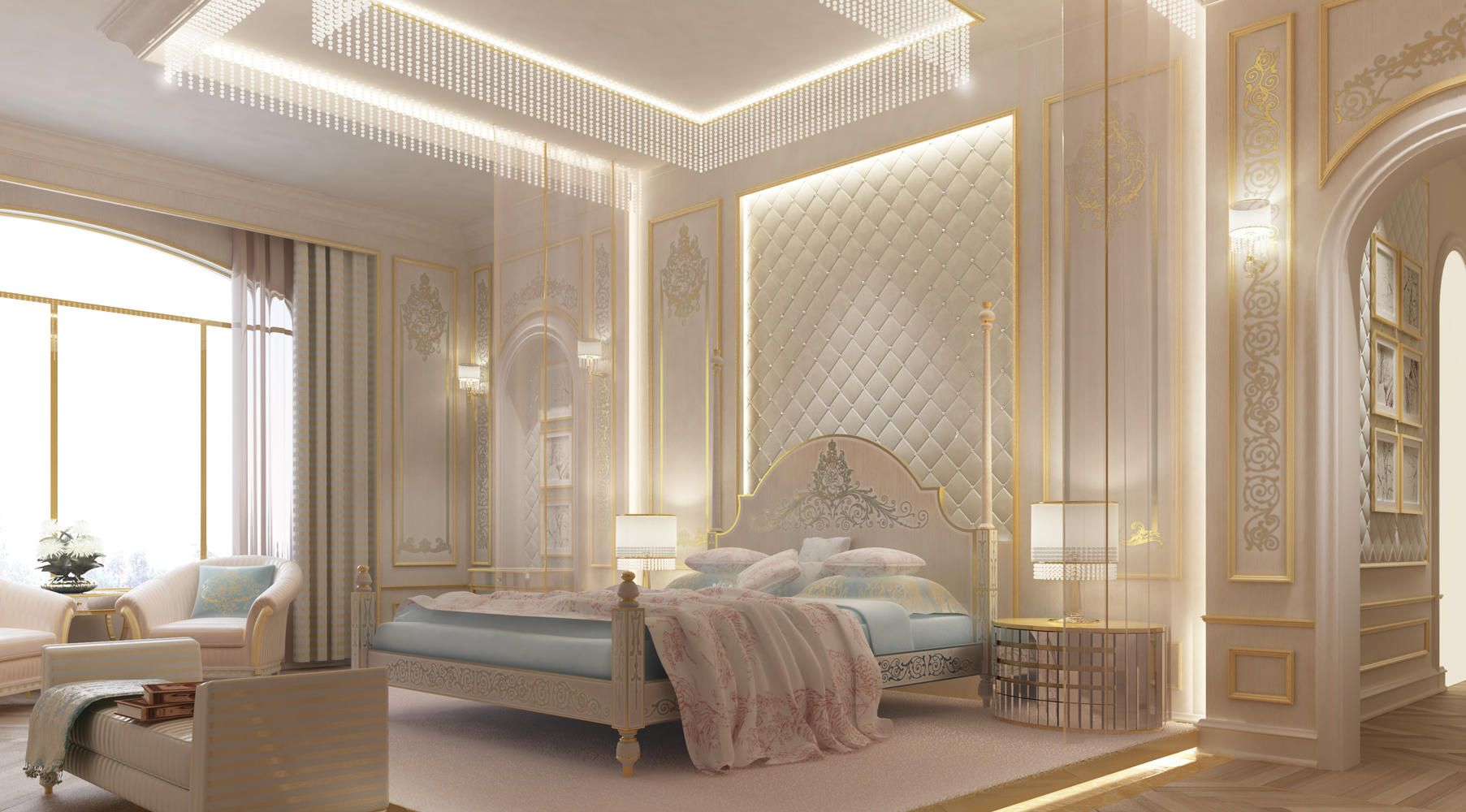 Dubai bedroom bedroom design abu dhabi d for House interior design romantic bedroom