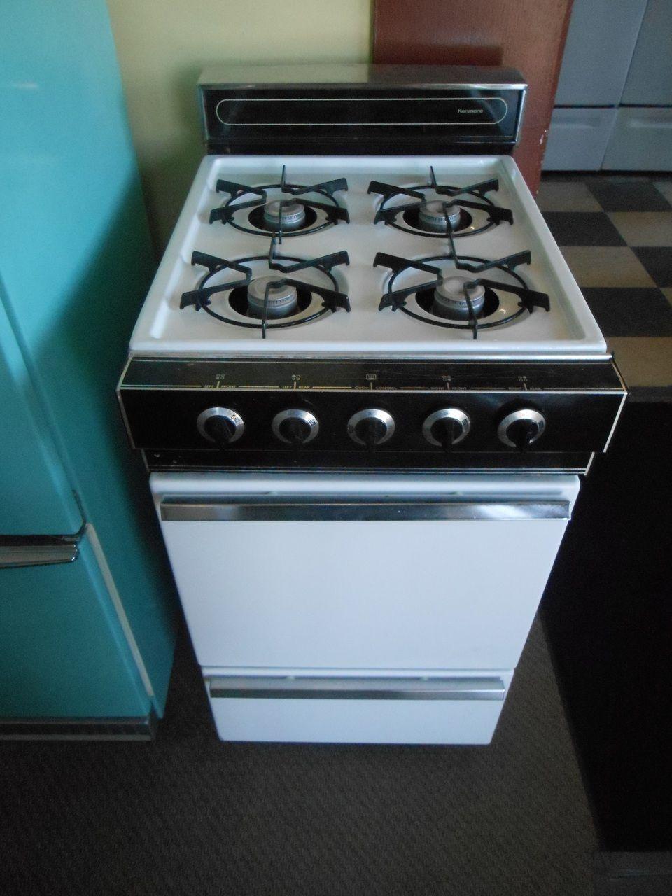 Appliance City - KENMORE 20 INCH GAS RANGE 4 BURNER BROILER DRAWER ...