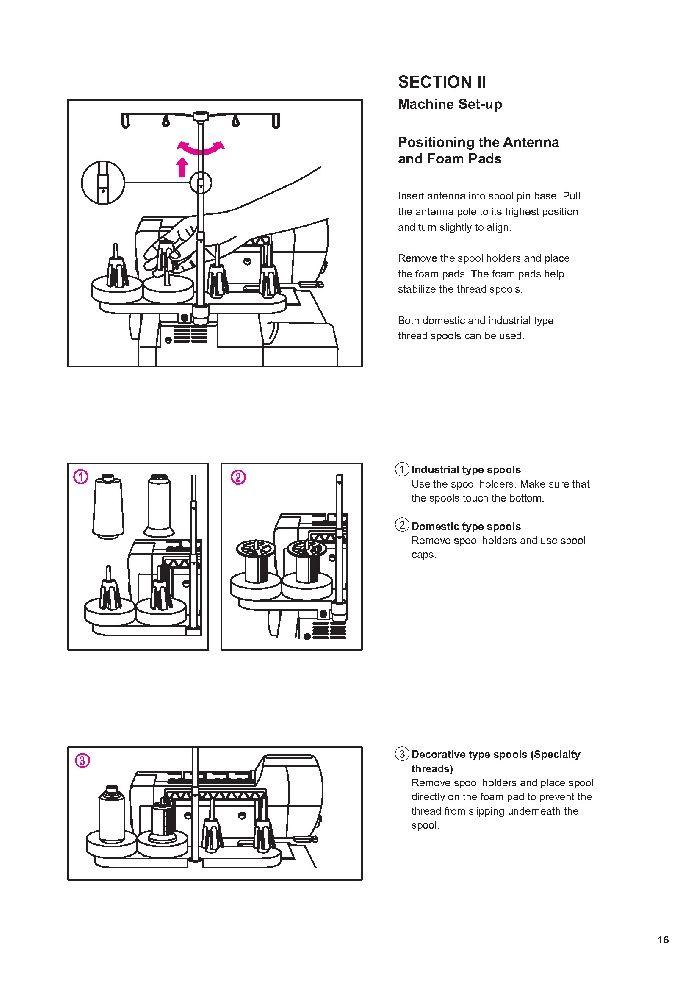 Elna 683 686 Overlock Sewing Machine Instruction Manual Elna 683 - instruction manual
