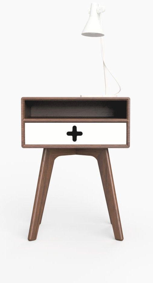 another chance 85efd b09bf Mid Century Modern Nightstand with shelf and drawer in ...