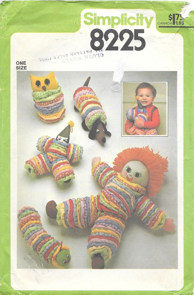Simplicity 8225 Craft sewing pattern uncut ff Yo-Yo circles Doll Owl ...