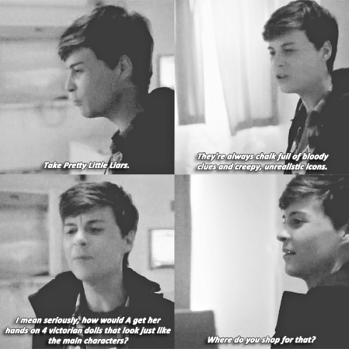 Noah #Scream MTV • One of my favorite characters in one of my favorite shows referencing one of my other favorite shows! So perfect