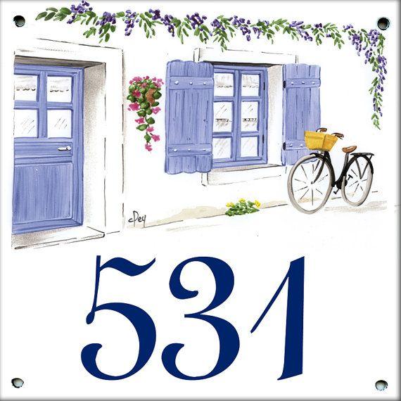 Plaques maill es pour noms ou num ros de maison decors par artotem nom de maison pinterest - Plaque de numero de maison ...