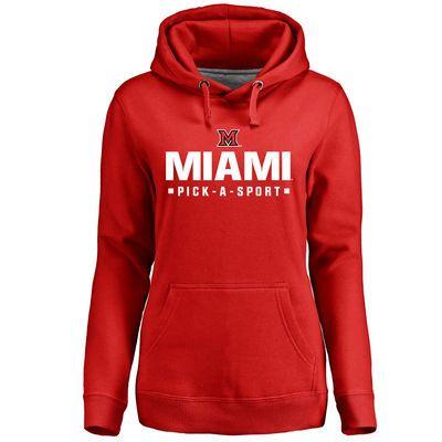 6d2d6bd28ab Women's Red Miami University RedHawks Custom Sport Pullover Hoodie ...