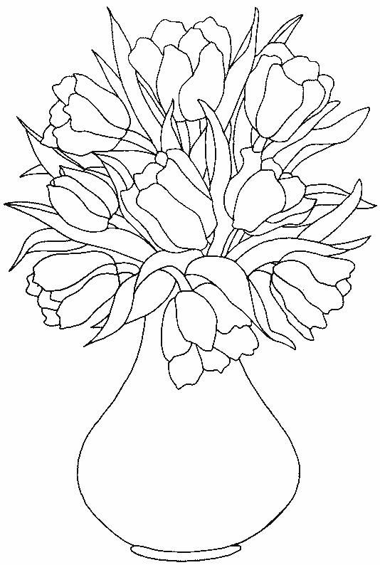Tulips coloring page 20 Wallpaper | coloring | Pinterest | Tulip ...