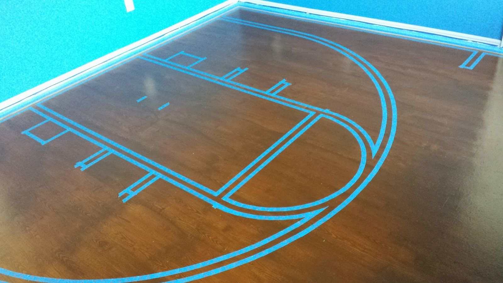 Painted Plywood Subfloor Beginning To End Painted Plywood Floors Basketball Court Setting The Basketball Bedroom Painted Plywood Floors Plywood Flooring