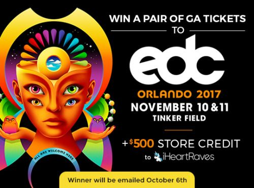 EDC Orlando Ticket Giveaway $500 to iHeartRaves {US}    sweepstakes