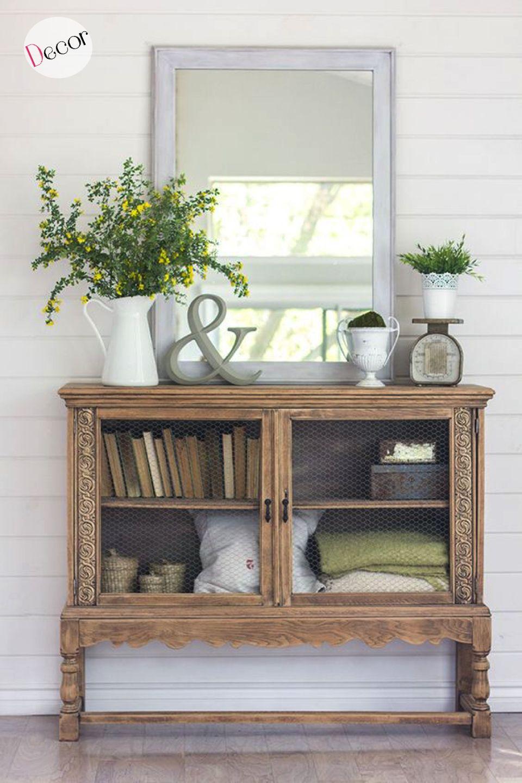 Entry hallway storage ideas  Decoración  Un armario vintage recuperado  diy decor  Pinterest