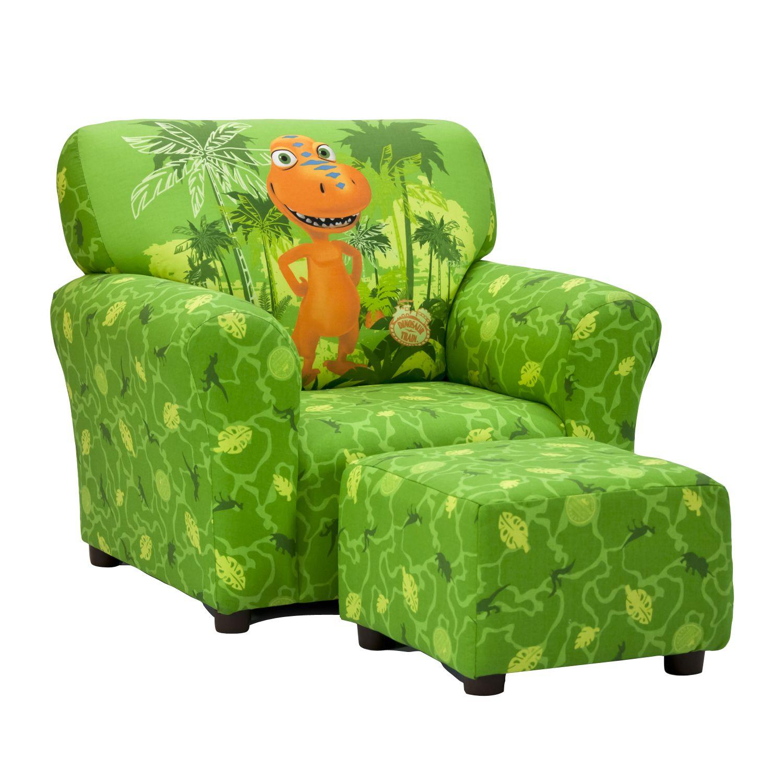 Dinosaur Train Buddy Green Club Chair and Ottoman Set