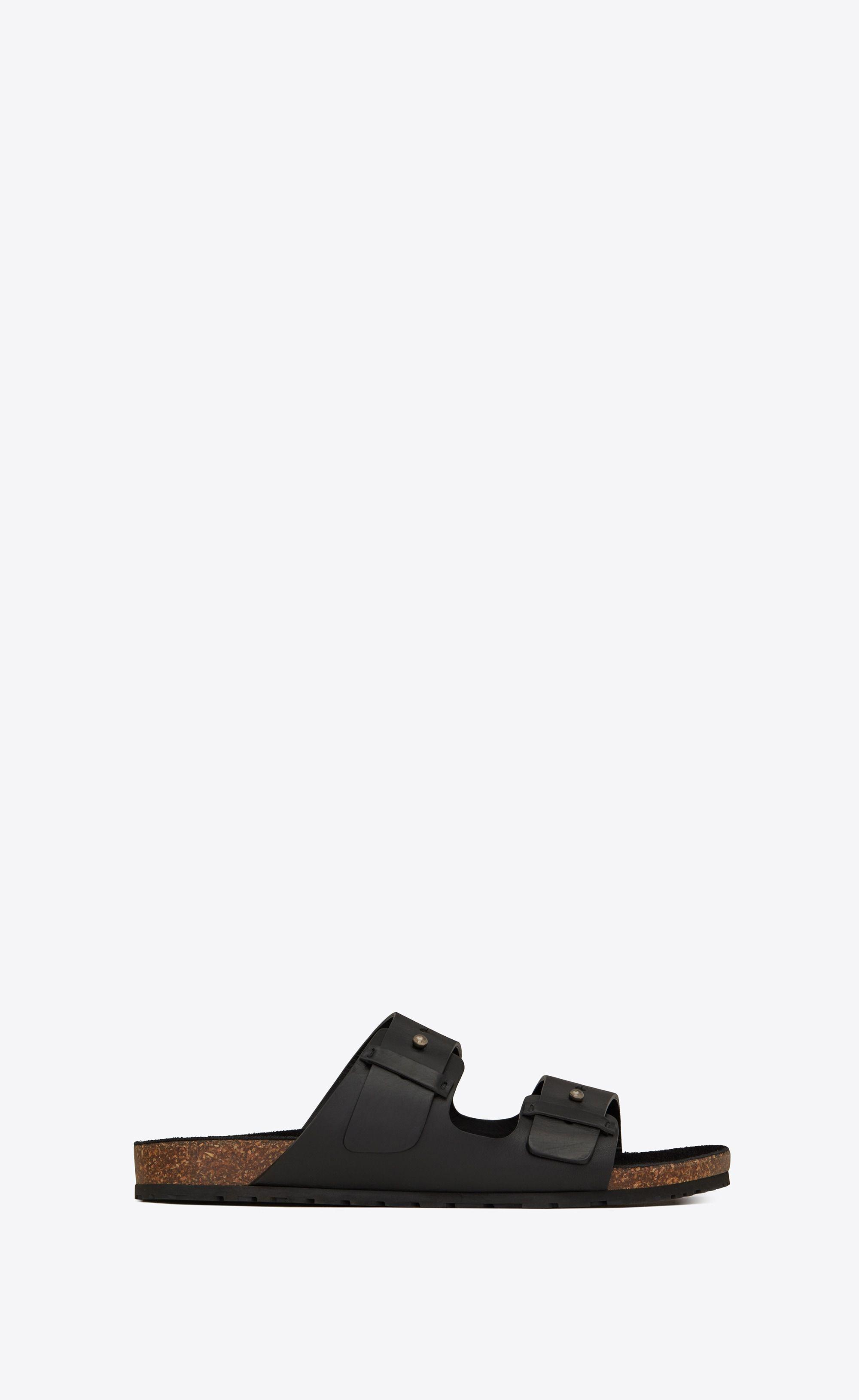 113377b34de3  Saint Laurent Jimmy Sandal With Leather Strap