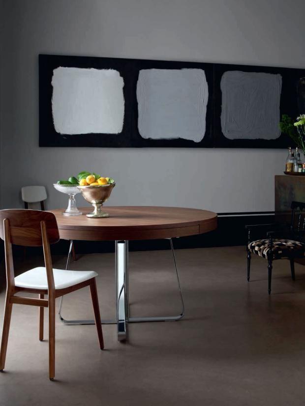 Wohnen Mit Farben   Die Graue Wand: Grau Und Dunkle Hölzer