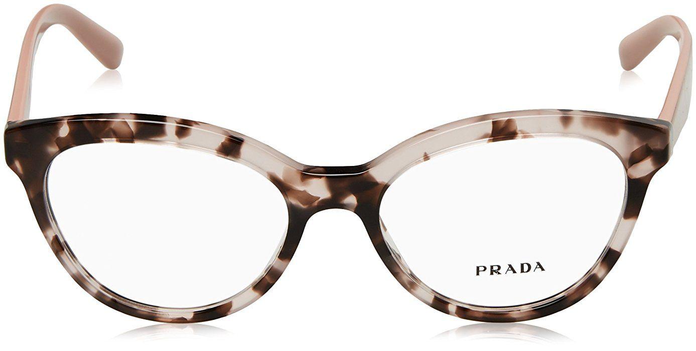 2deb81a4f9 Amazon.com  Prada TRIANGLE PR11RV Eyeglass Frames ROJ1O1-50 - Pink Havana  PR11RV