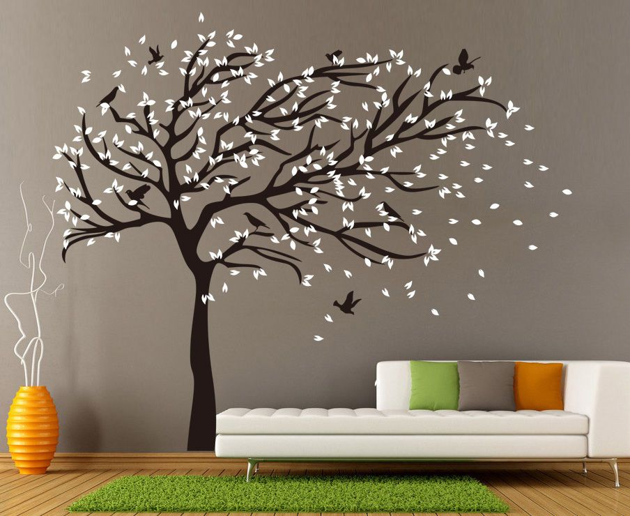 X Large Birds Tree Branch Wall Stickers Vinyl Decals Uk Rui250 Vinyl Tree Wall Decal Wall Decals Uk Large Wall Decals