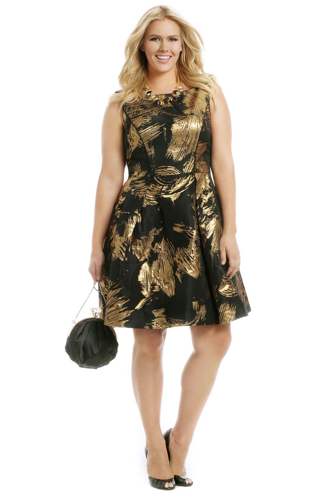 Gold Whirlwind Dress | closet | Plus size, Plus Size Fashion ...