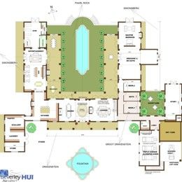 H-SHAPED HOUSE PLANS WITH POOL IN THE MIDDLE | CAPE ARCHITECT COMPANY