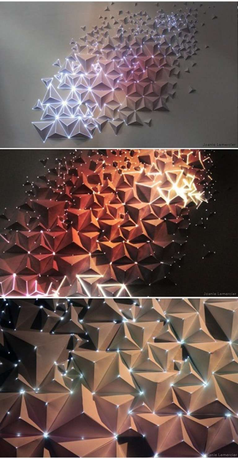 Aplique De Pared Hermosa Con Dichas Lamparas No Estandar Que Inspiran Light Art Paper Art Light Project