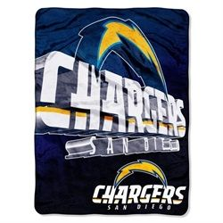 San Diego Chargers Fleece Blanket Throw 60x80