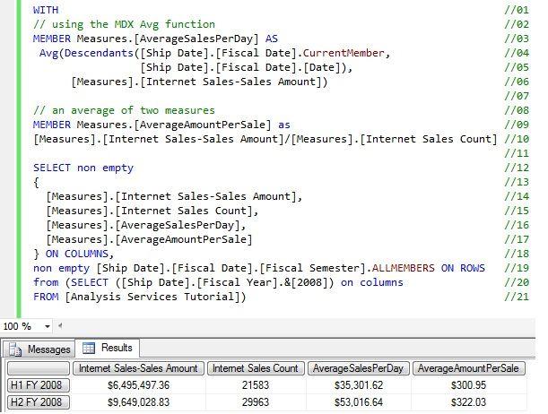 Sql Server Analysis Services Mdx Average Calculation  Mssqltips