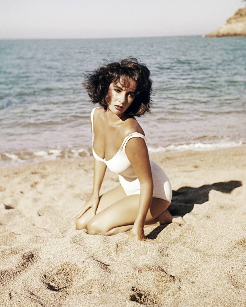 Elizabeth Taylor, 1959  From: Famous Bikinis: Celebrate The Swimsuit's Birthday With The Best Ones Ever (PHOTOS)